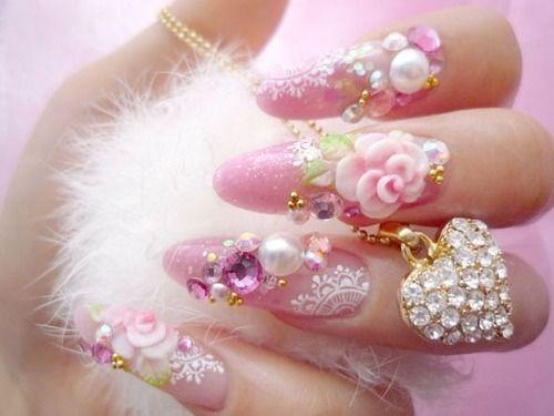 Bijuterii pe unghii cu gel 1