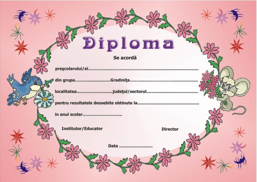 Diploma prescolari model 1