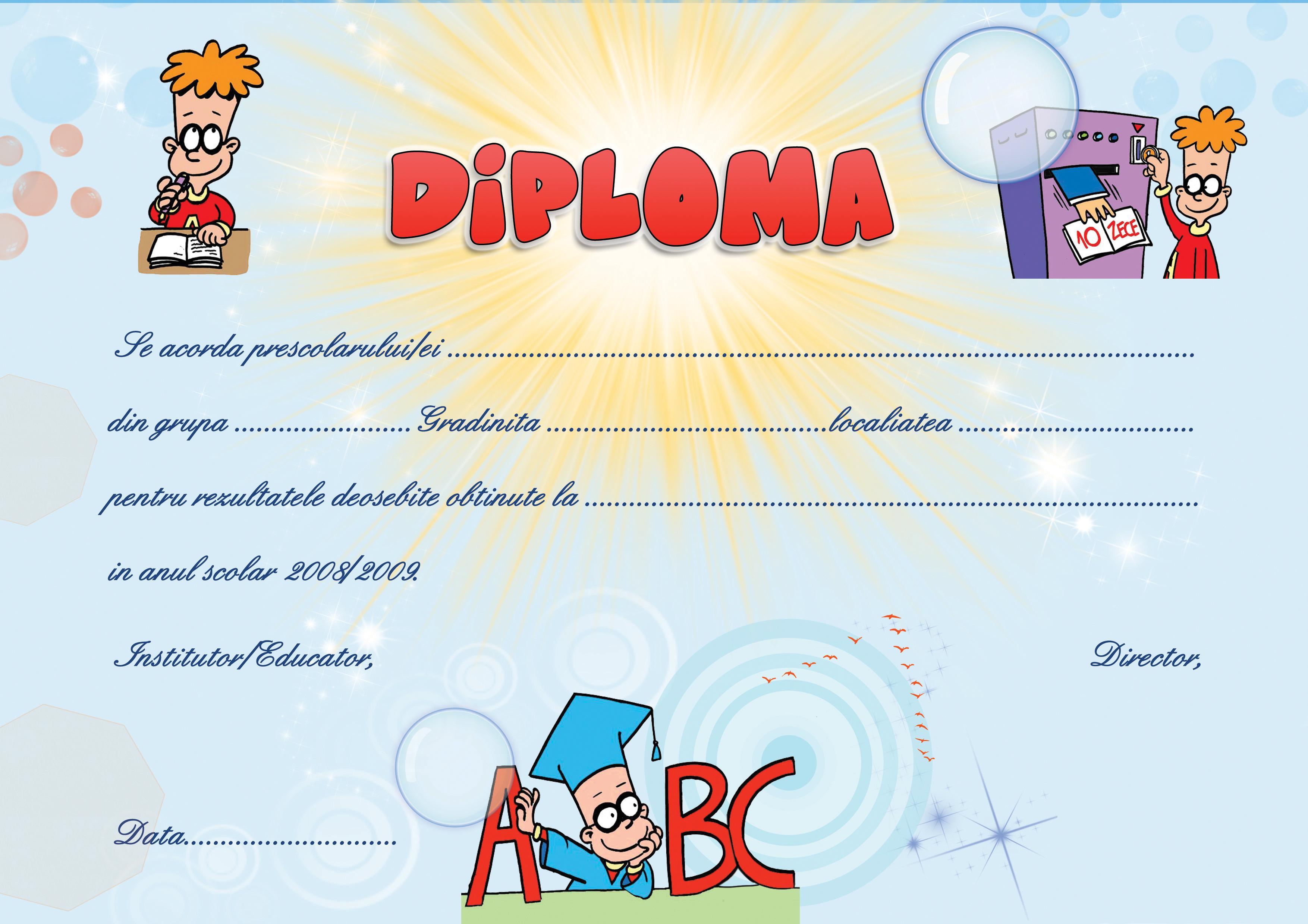 Diploma gradinita 23