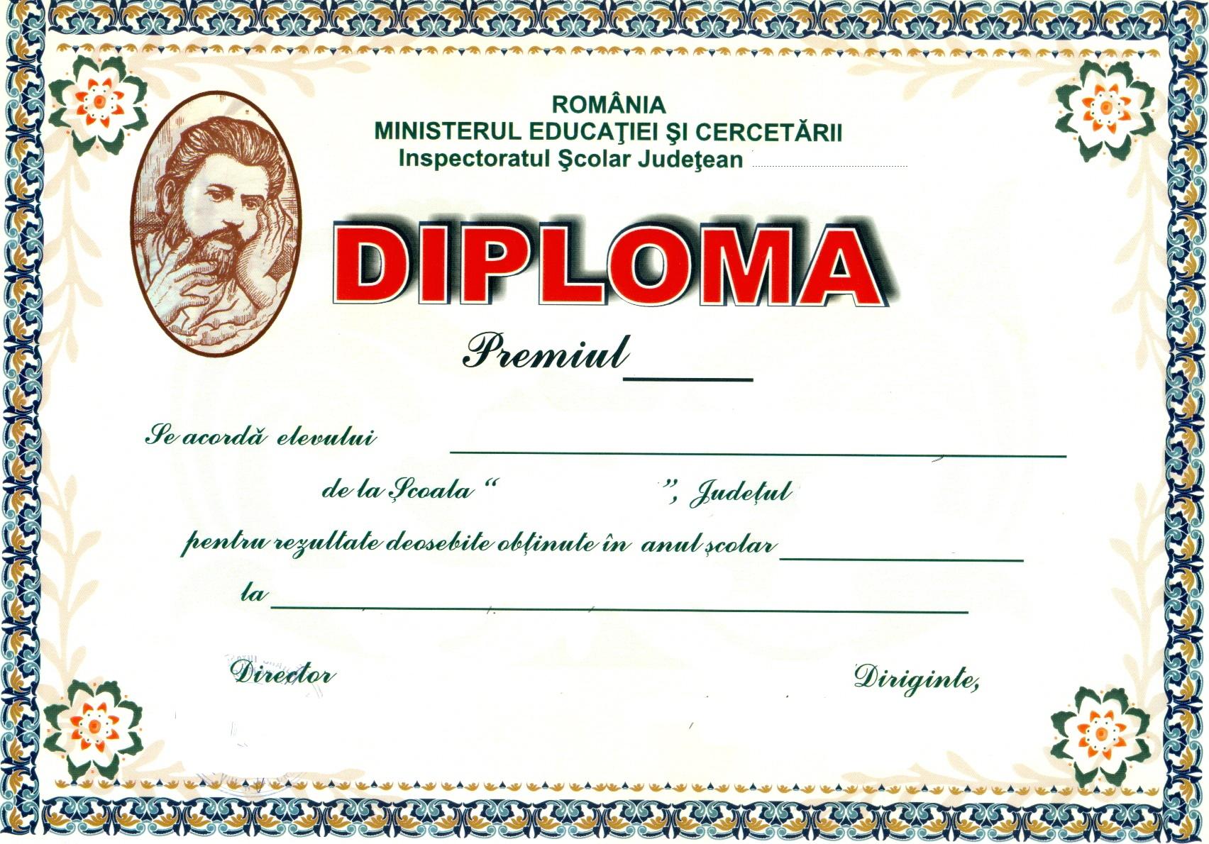 Diplome scolare modele 3