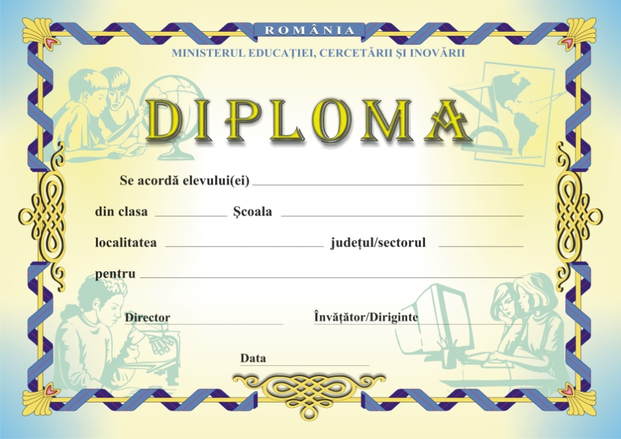 Model diploma scolara 20