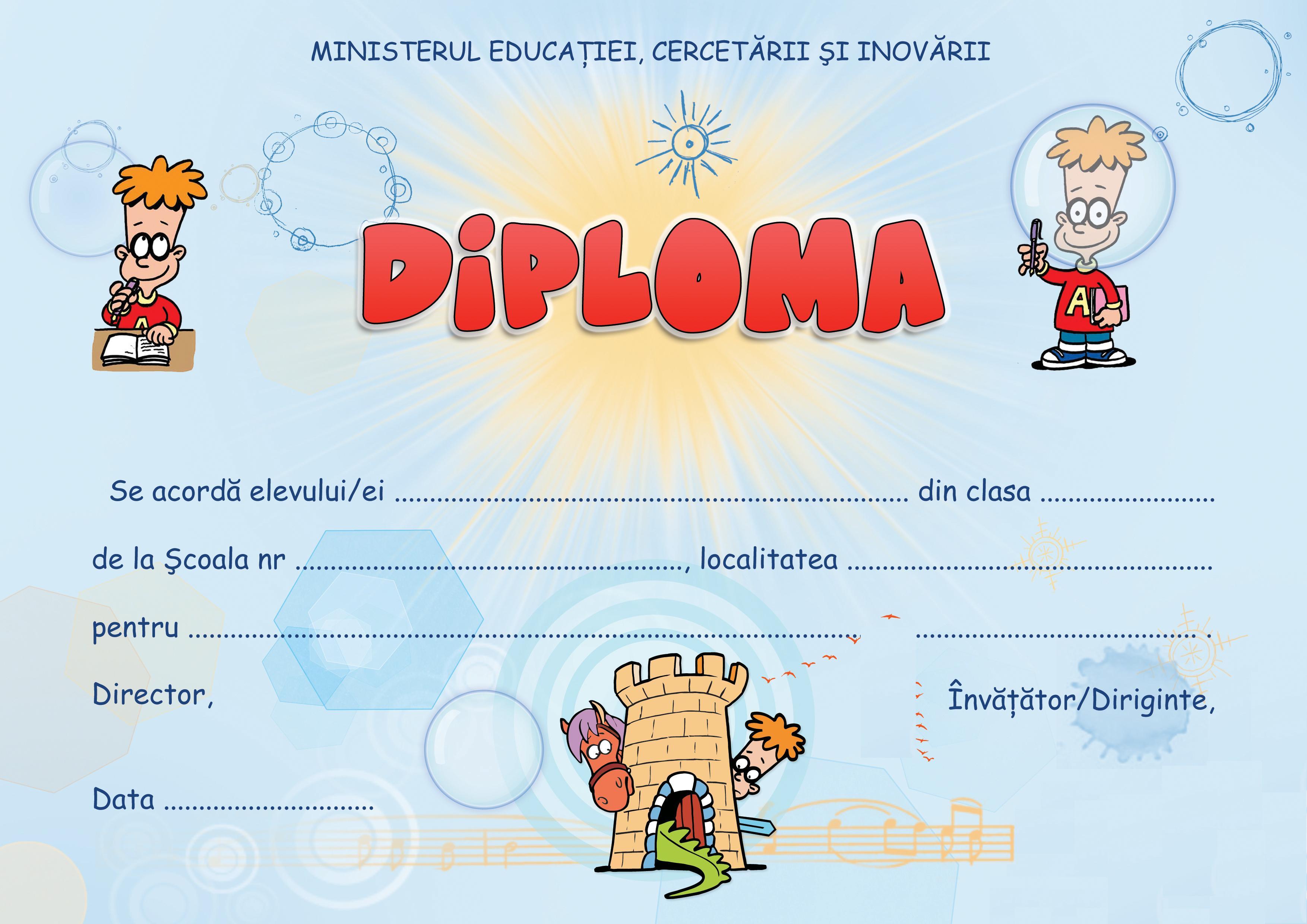 Model de diploma scolara 21