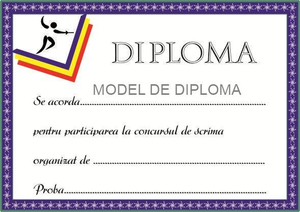 Modele diplome sportive - Model-de.ro