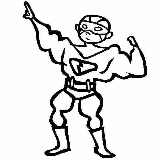 Coloreaza desen cu Superman