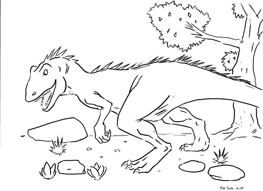 Dinozauri de colorat - plansa/desen 2